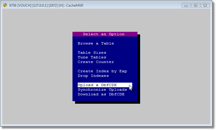 <Upload a DbfCDX> consumes CacheUploadByBuffer() functions and undergoes a series of operations.